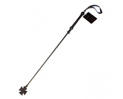 Длинный плетеный стек с наконечником-крестом - 85 см.
