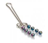 Зажим на клитор с перламутровыми бусинами Beaded Clitoral Jewelry